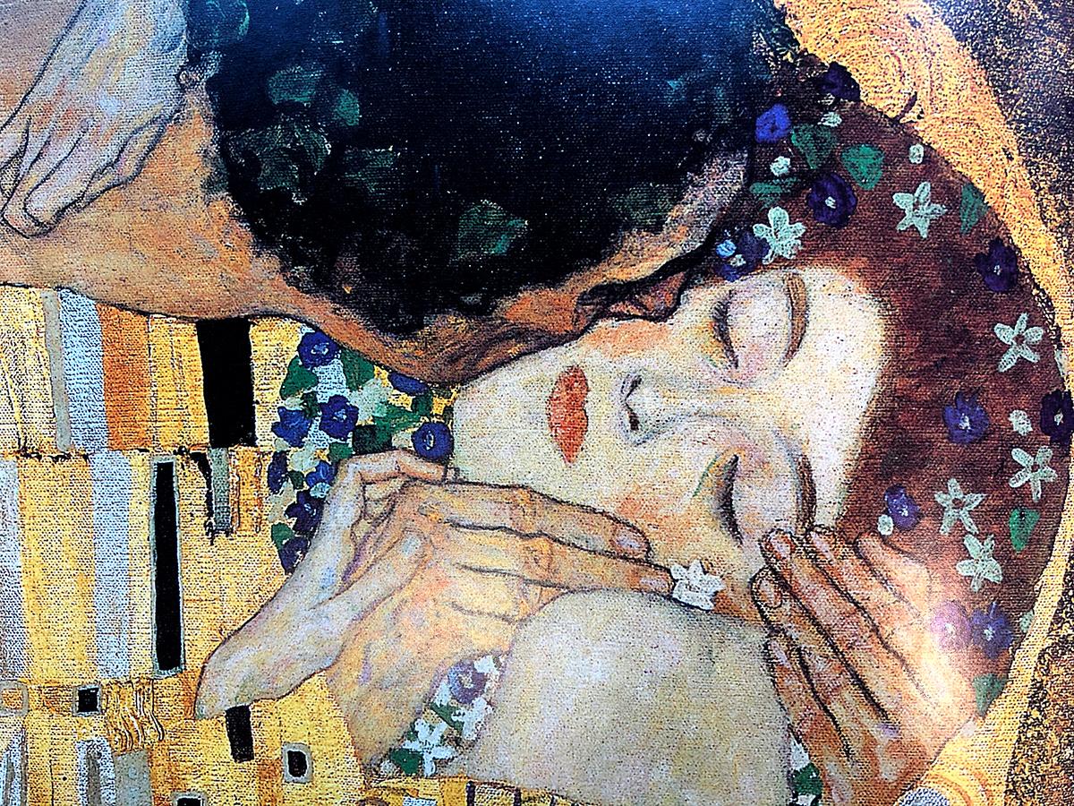 """Gustav Klimt """"Kyssen"""""""